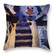 Snowman Photo Art 44 Throw Pillow