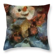 Snowman Photo Art 47 Throw Pillow