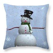 Snowman... Throw Pillow