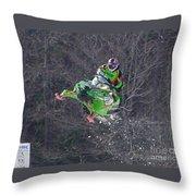 Snowmobile Air Time Throw Pillow