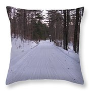 Snowmobile Trail Throw Pillow