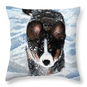 Snowplow Throw Pillow