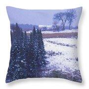 Snow's Arrival Throw Pillow by Joy Nichols