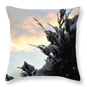 Snowvember Sunrise Throw Pillow