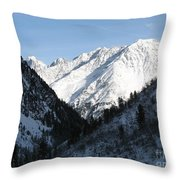 Snowwhite Mountain Top Throw Pillow