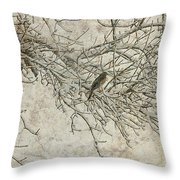 Snowy Bird Throw Pillow