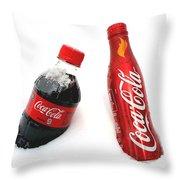 Snowy Coca - Cola Throw Pillow
