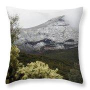 Snowy Desert Mountain 1 Throw Pillow