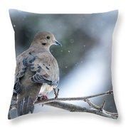 Snowy Dove Throw Pillow