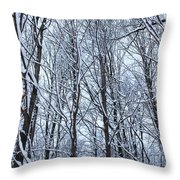 Snowy Forest Throw Pillow