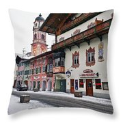 Snowy Good Friday Throw Pillow
