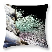 Snowy Lakeside Throw Pillow