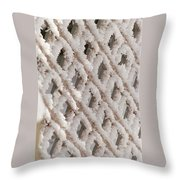 Snowy Lattice Vertical Throw Pillow