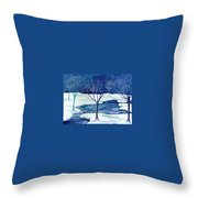 Snowy Moment Throw Pillow