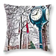 Snowy Morning - Oil Throw Pillow