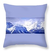 Snowy Mountains Throw Pillow