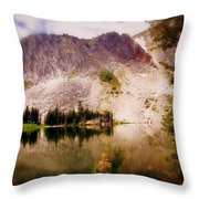 Snowy Mountains Loop 2 Throw Pillow