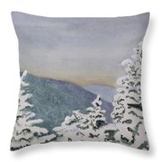 Snowy Mountains Of Nek Throw Pillow