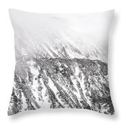 Snowy Ridge Abstract Throw Pillow