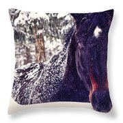 Snowy Spirit Throw Pillow