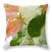 Snowy Spring 1 - Digital Painting Effect Throw Pillow
