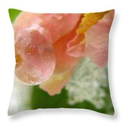 Snowy Spring 2 - Digital Painting Effect Throw Pillow