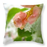 Snowy Spring 3 - Digital Painting Effect Throw Pillow