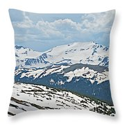 Snowy Terrain Near Top Of Trail Ridge Road In Rocky Mountain Np-co   Throw Pillow