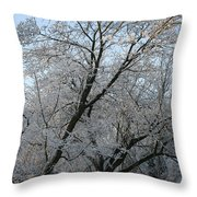 Snowcovered Trees Throw Pillow