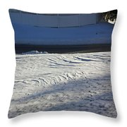 Snowy Waves In January Throw Pillow