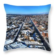 Snowy West Side Winter 2013 Throw Pillow