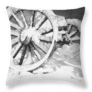 Snowy Wheel  Throw Pillow
