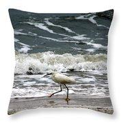 Snowy White Egret Throw Pillow