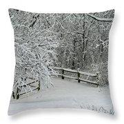 Snowy Winter Throw Pillow