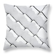 Snowy Wire Netting Throw Pillow