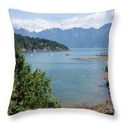 Snug Cove  Throw Pillow