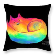 Snuggle Cat Throw Pillow