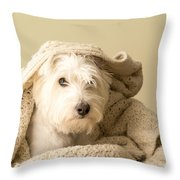 Snuggle Dog Throw Pillow