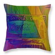 Snyders Garage Throw Pillow