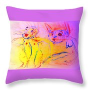 A Long Time Ago We Were So Incredibly Happy Together Throw Pillow