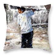 Soaked Throw Pillow by Emerico Imre Toth