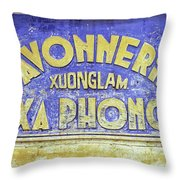 Soap Factory Sign Throw Pillow