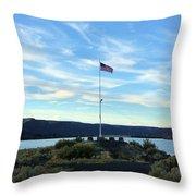 Soap Lake Washington Throw Pillow