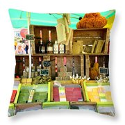 Soap Seller Throw Pillow