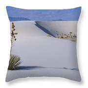 Soaptree Yucca At White Sands Nm Throw Pillow