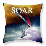 Soar Work A Throw Pillow