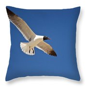 Soaring Above The Sea Throw Pillow