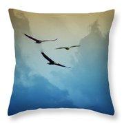 Soaring Eagles Throw Pillow