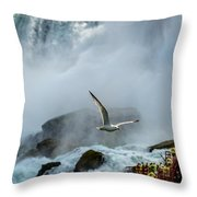 Soaring In The Mist Throw Pillow