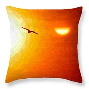Soaring In The Sunset Throw Pillow